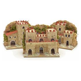 Maisons en miniature en carton pour crèche 8x10x6cm (assorties). 3 pièces s2