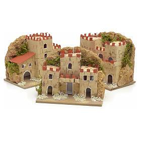Maisons en miniature en carton pour crèche 8x10x6cm (assorties). 3 pièces s3