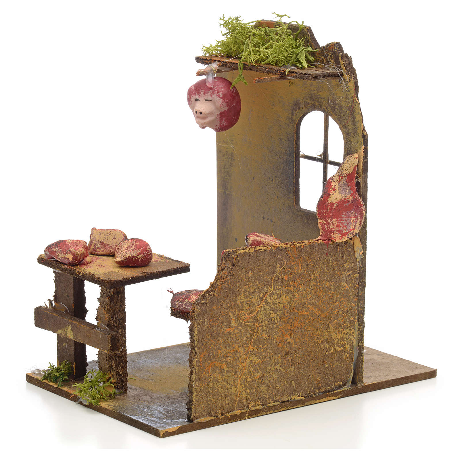 Nativity setting, butcher's shop 14x9x16cm 4