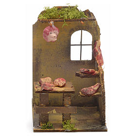 Nativity setting, butcher's shop 14x9x16cm s1