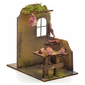 Nativity setting, butcher's shop 14x9x16cm s2