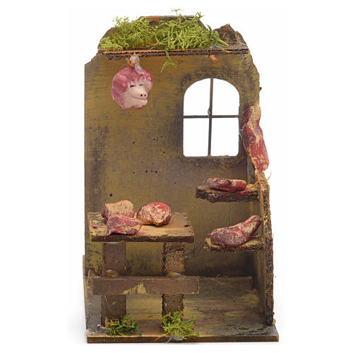 Nativity setting, butcher's shop 14x9x16cm 1