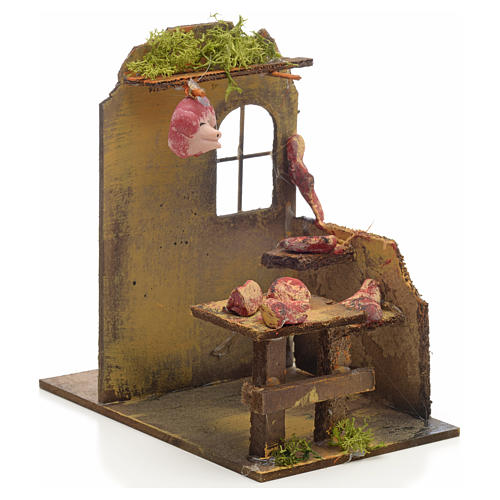 Nativity setting, butcher's shop 14x9x16cm 2
