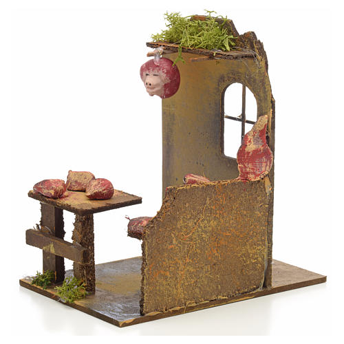 Nativity setting, butcher's shop 14x9x16cm 3