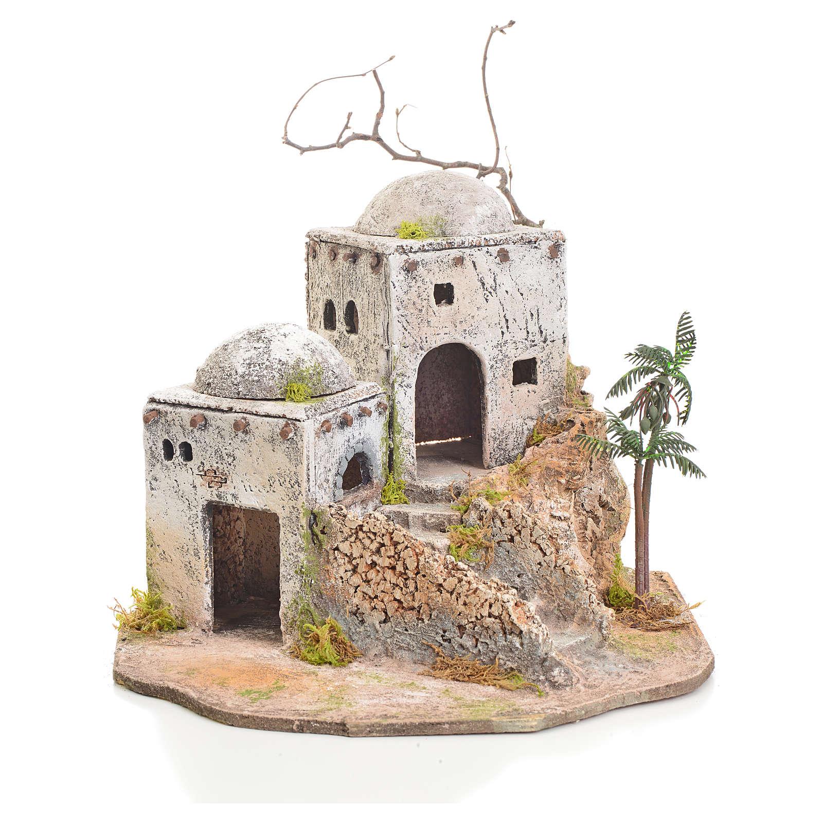 Casa araba presepe in resina e sughero 4