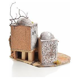 Casa araba presepe in resina e sughero s3