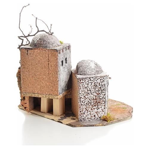 Casa araba presepe in resina e sughero 3
