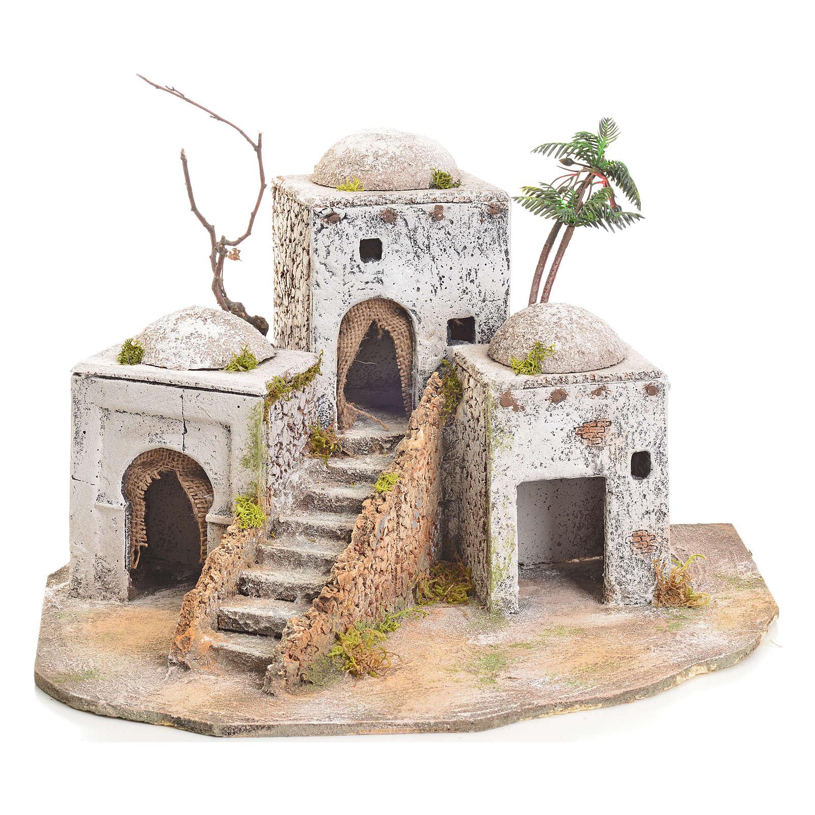 Borgo arabo in resina e sughero presepe 4