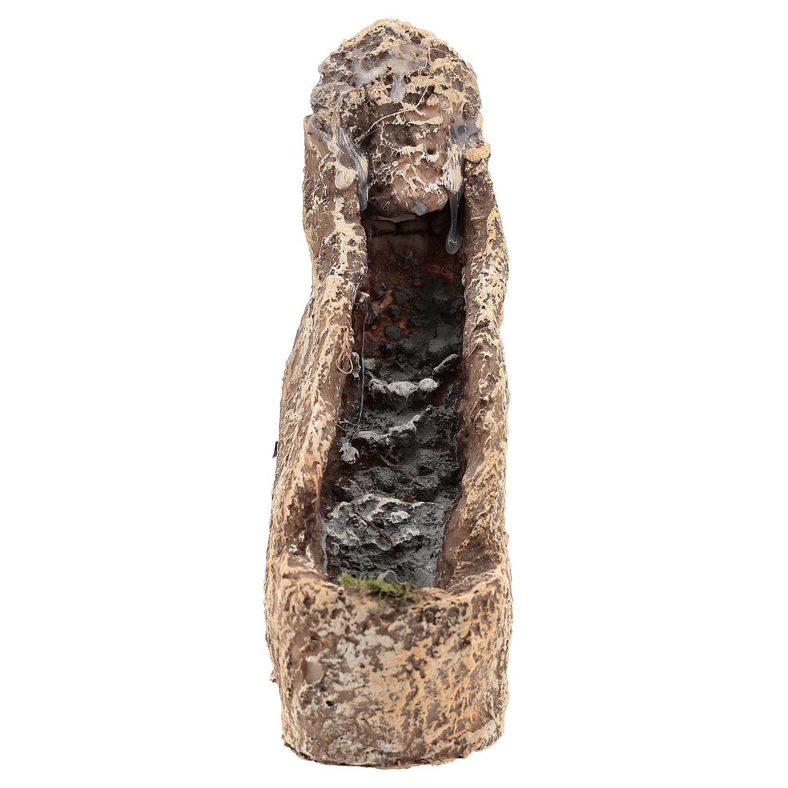 Cascade en résine pour crèche 22x10x20 cm 4