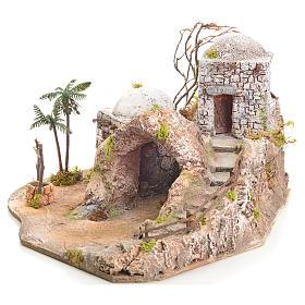 Grotta presepe illuminata stile arabo 42x40x40 s2