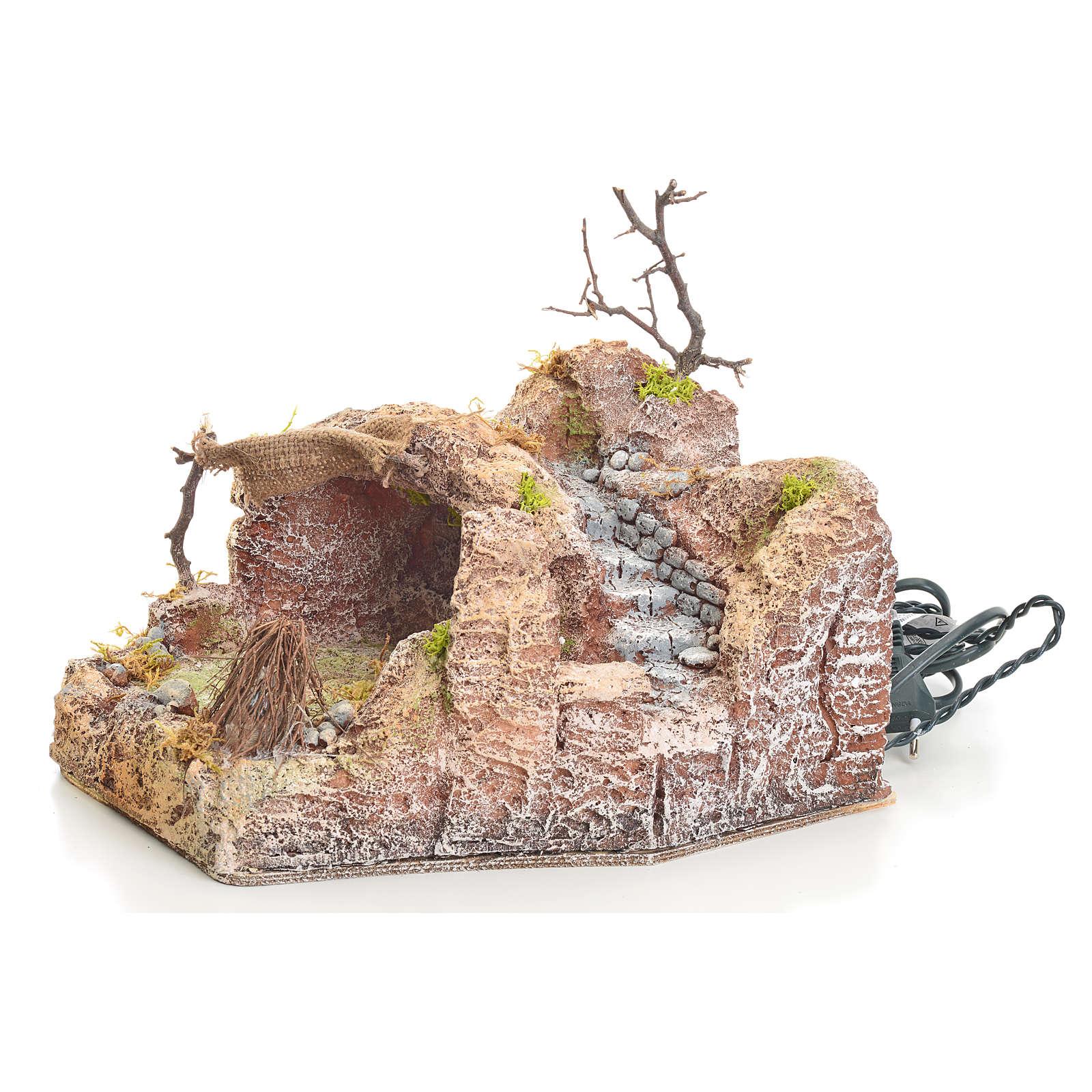 Grotta in resina illuminata 20x24x30 cm 4
