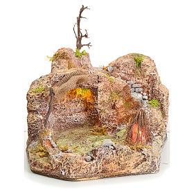 Grotta in resina illuminata 20x24x30 cm s1