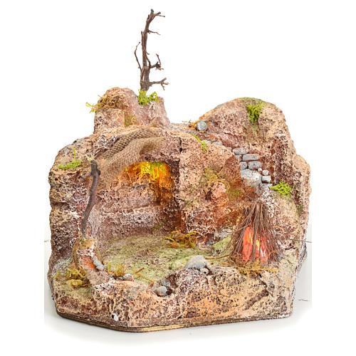 Grotta in resina illuminata 20x24x30 cm 1