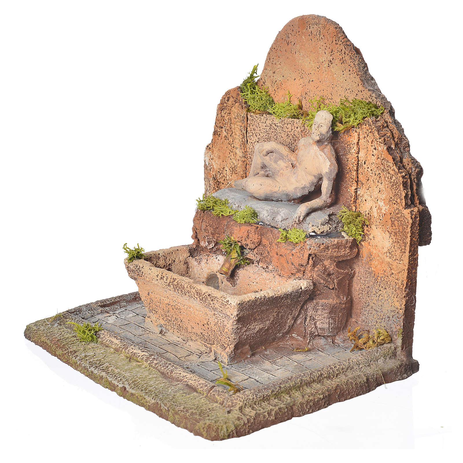 Fontana resina presepe 13x21x14 cm 4