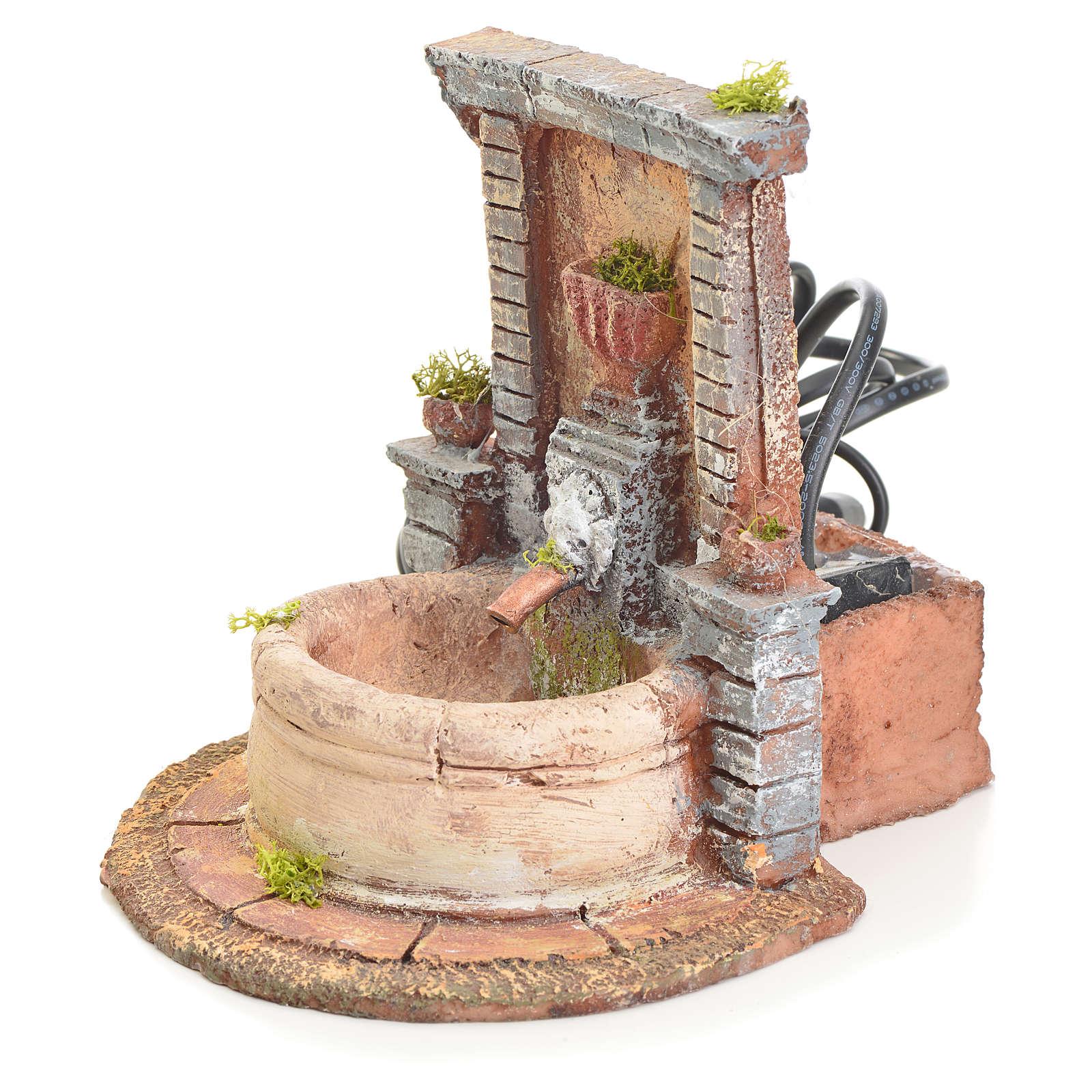 Fontaine résine pour crèche 15x15x18 4