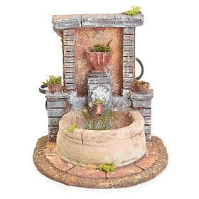 Fontaine résine pour crèche 15x15x18 s1