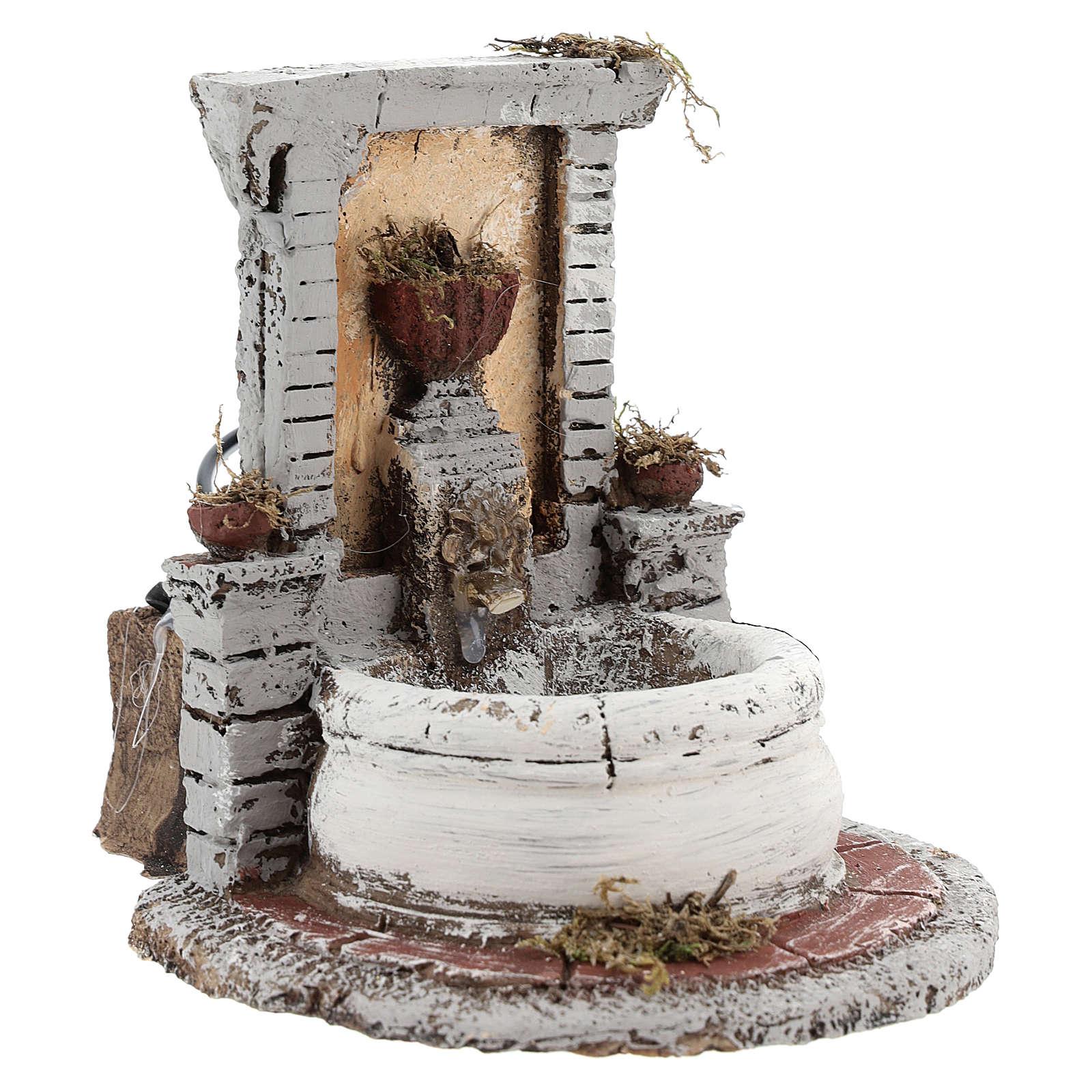 Fontana resina per presepe 15x15x18 cm 4