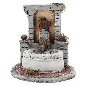 Fontana resina per presepe 15x15x18 cm s1