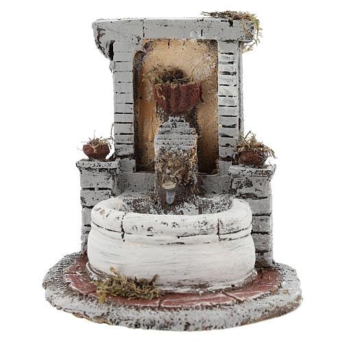 Fontana resina per presepe 15x15x18 cm 1