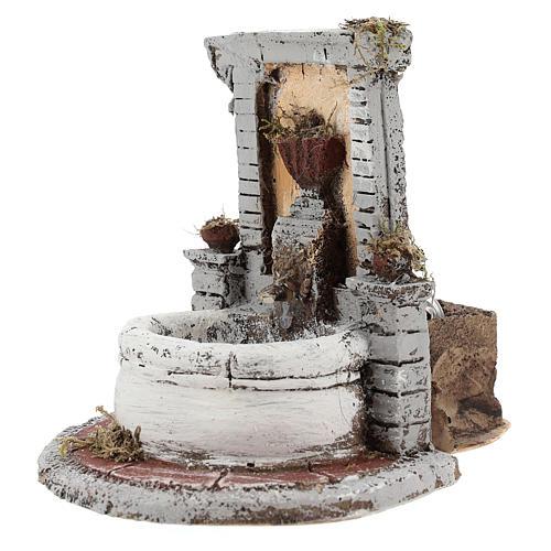 Fontana resina per presepe 15x15x18 cm 2