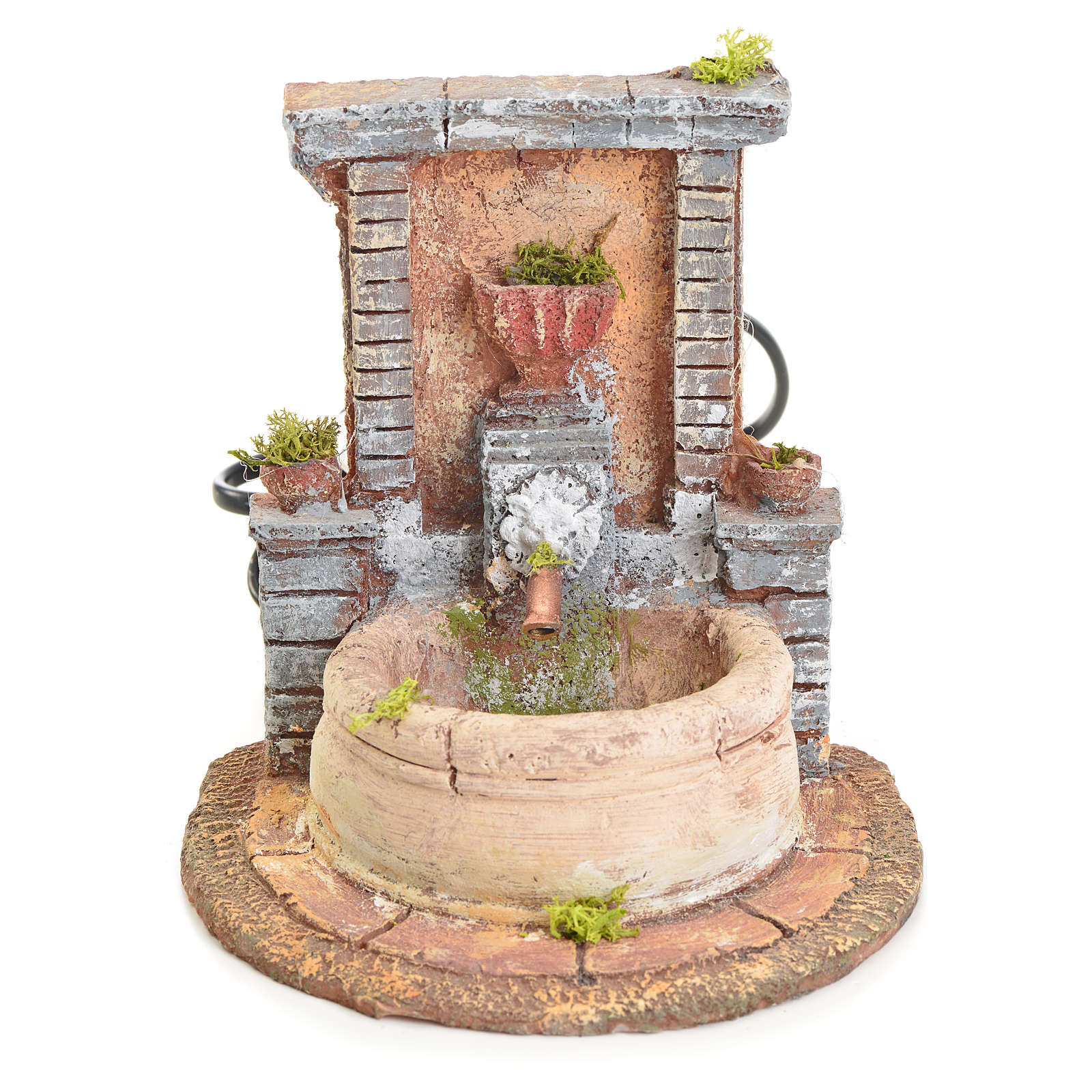 Fountain in resin 15x15x18cm 4