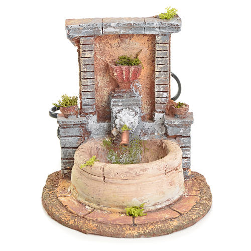 Fountain in resin 15x15x18cm 1