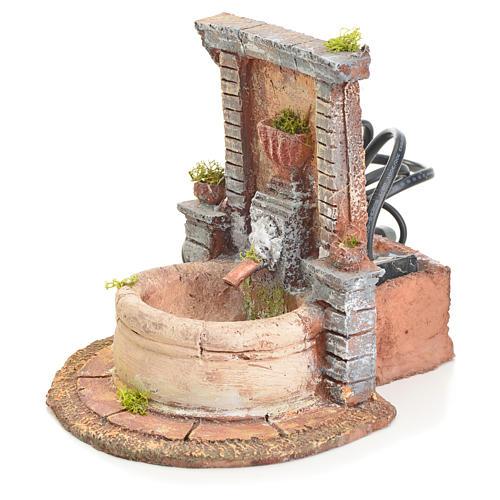 Fountain in resin 15x15x18cm 2