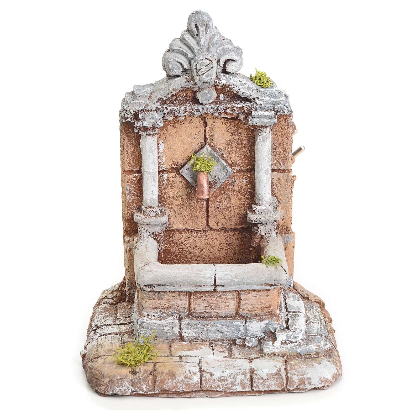 Fontaine résine pour crèche 17x13x16 cm 4