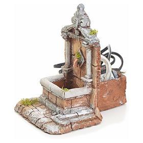 Fontaine résine pour crèche 17x13x16 cm s2