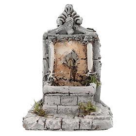 Fontaine résine pour crèche 17x13x16 cm s1