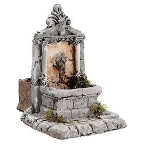 Fontaine résine pour crèche 17x13x16 cm s3