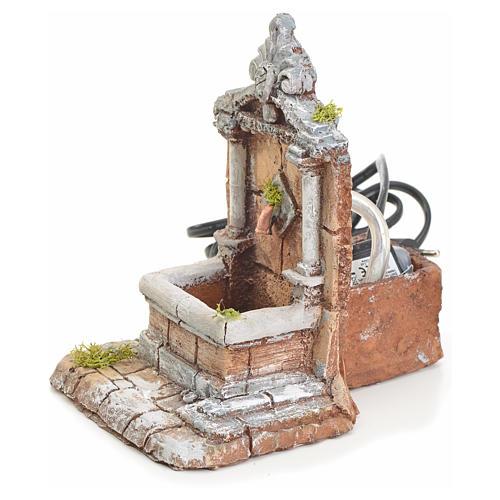 Fontaine résine pour crèche 17x13x16 cm 2