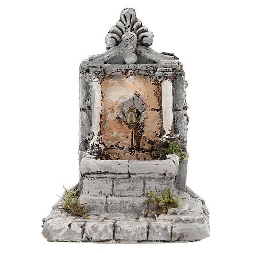 Fontaine résine pour crèche 17x13x16 cm 1