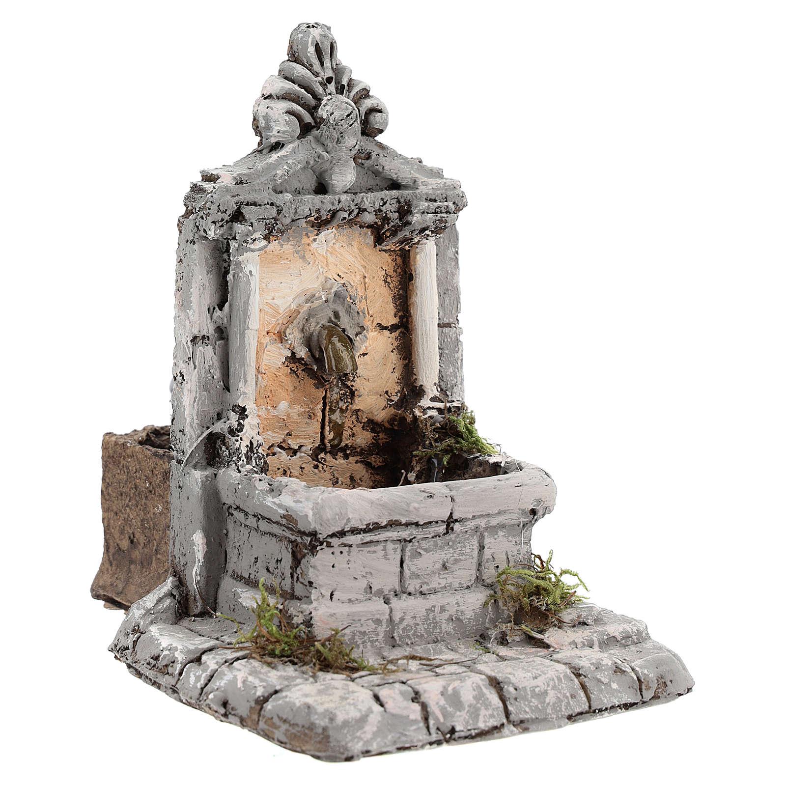 Fontana resina per presepe 17x13x16 cm 4