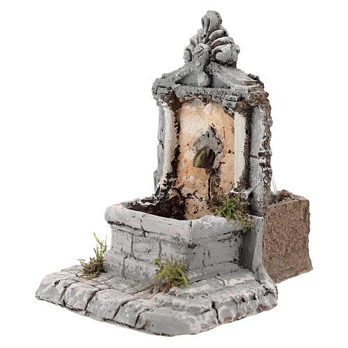 Fontana resina per presepe 17x13x16 cm 2