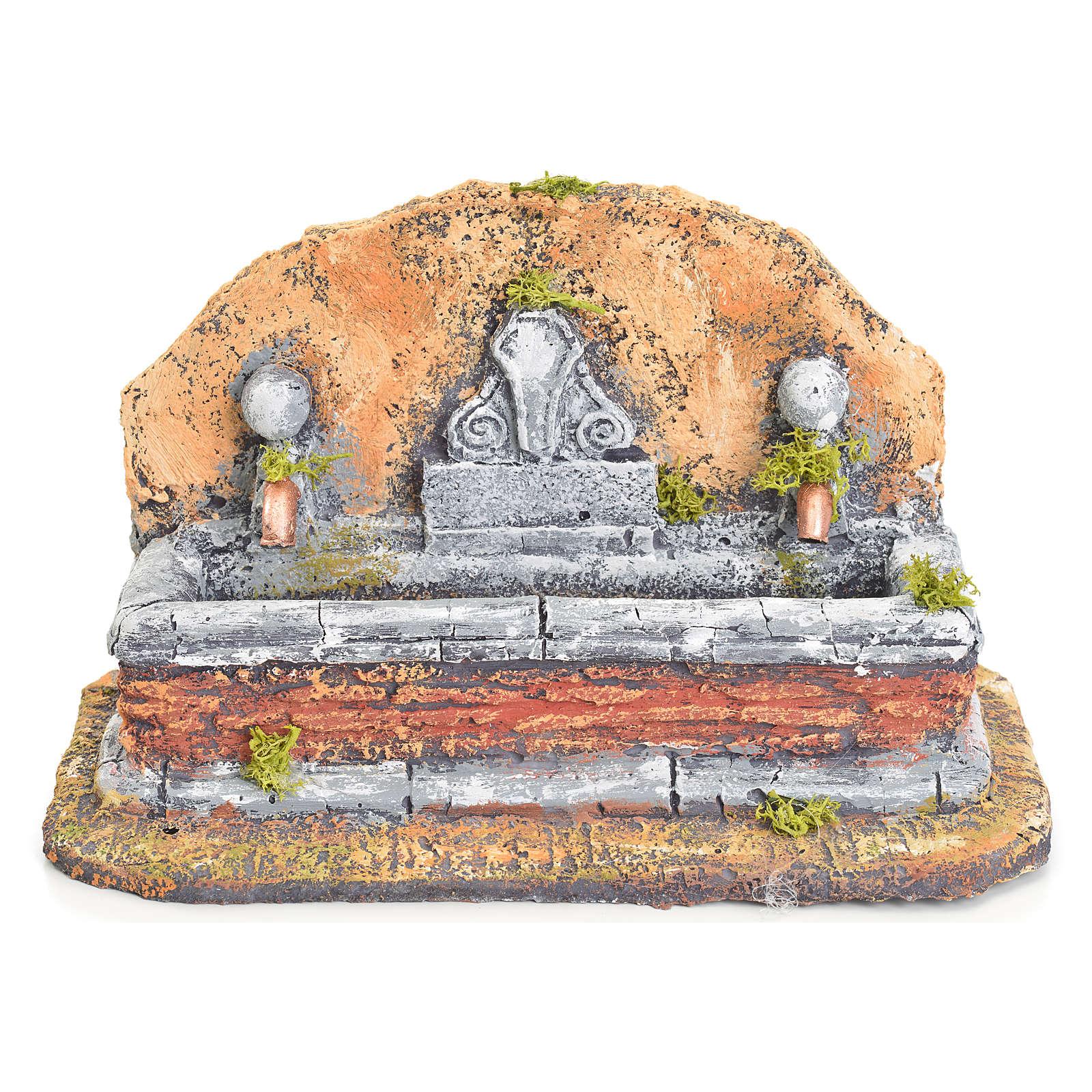 Fontana resina presepe stile romano 17x19x16 cm 4