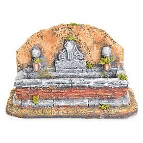 Fontana resina presepe stile romano 17x19x16 cm s4