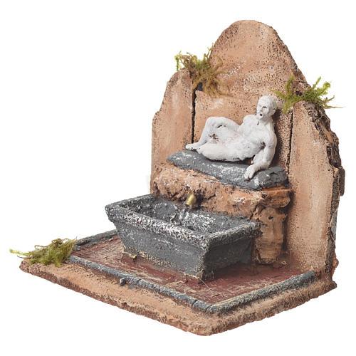 Fontana resina presepe stile romano 17x19x16 cm 8