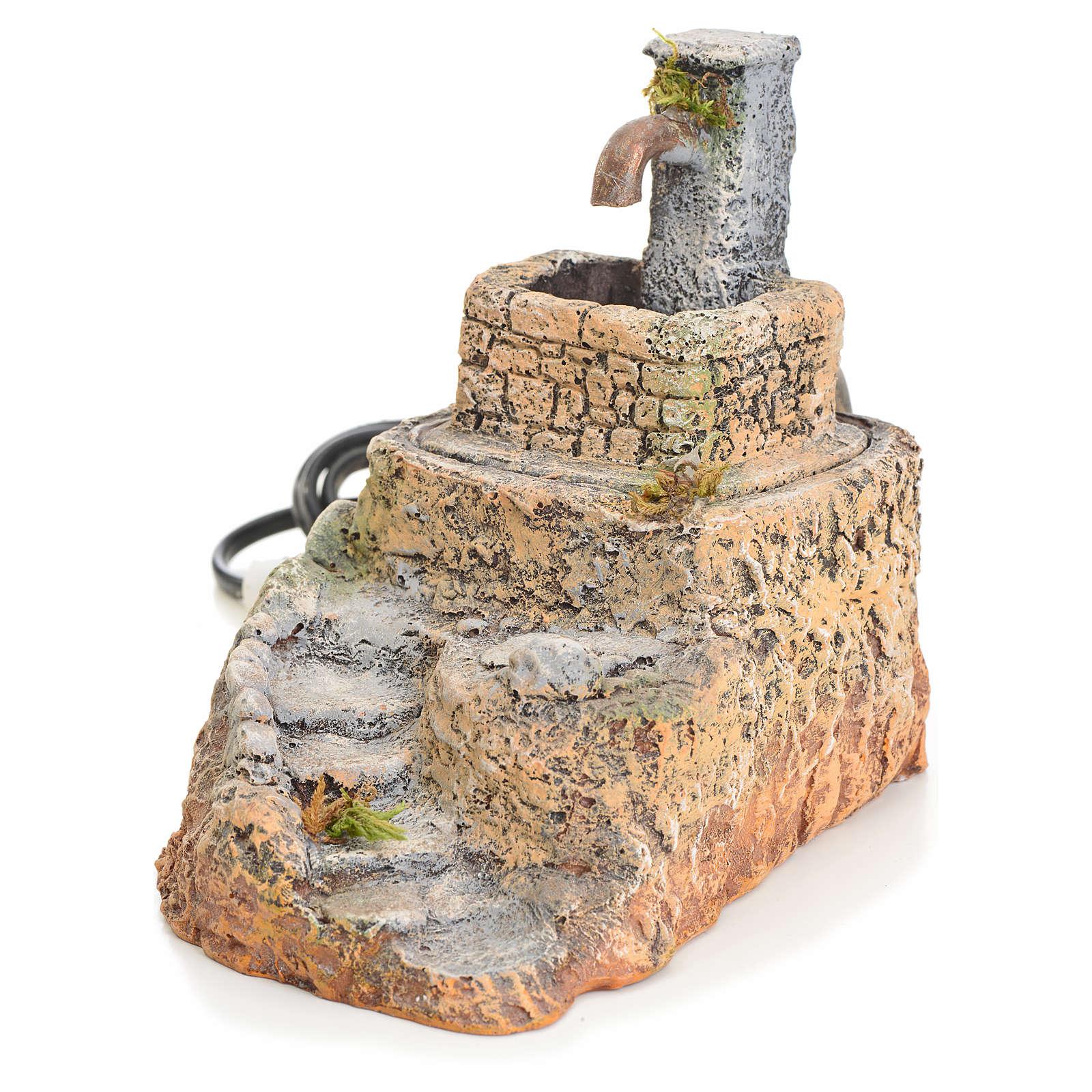 Fontana presepe resina con scaletta 13x10x15 cm 4