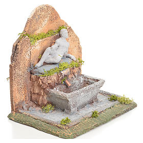 Fontana presepe resina con scaletta 13x10x15 cm s5
