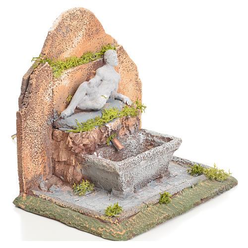 Fontana presepe resina con scaletta 13x10x15 cm 5