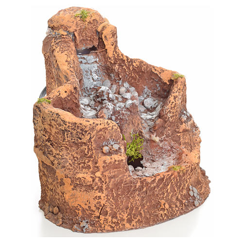 lago en resina con cascada para pesebre 16x18x15cm 2