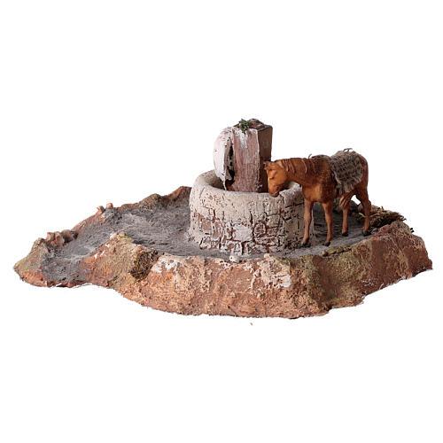 Macina in legno e sughero con asino 11x26x22 cm 3