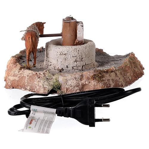 Macina in legno e sughero con asino 11x26x22 cm 4