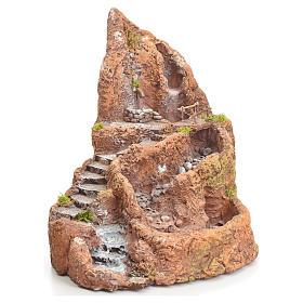 Ruscello presepe in resina con scaletta 27x28x23 s1