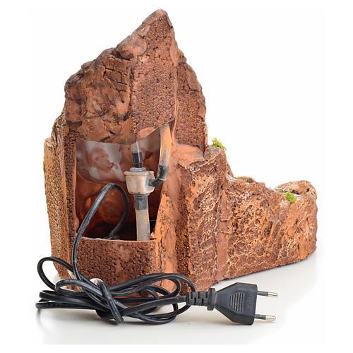 Ruscello presepe in resina con scaletta 27x28x23 3