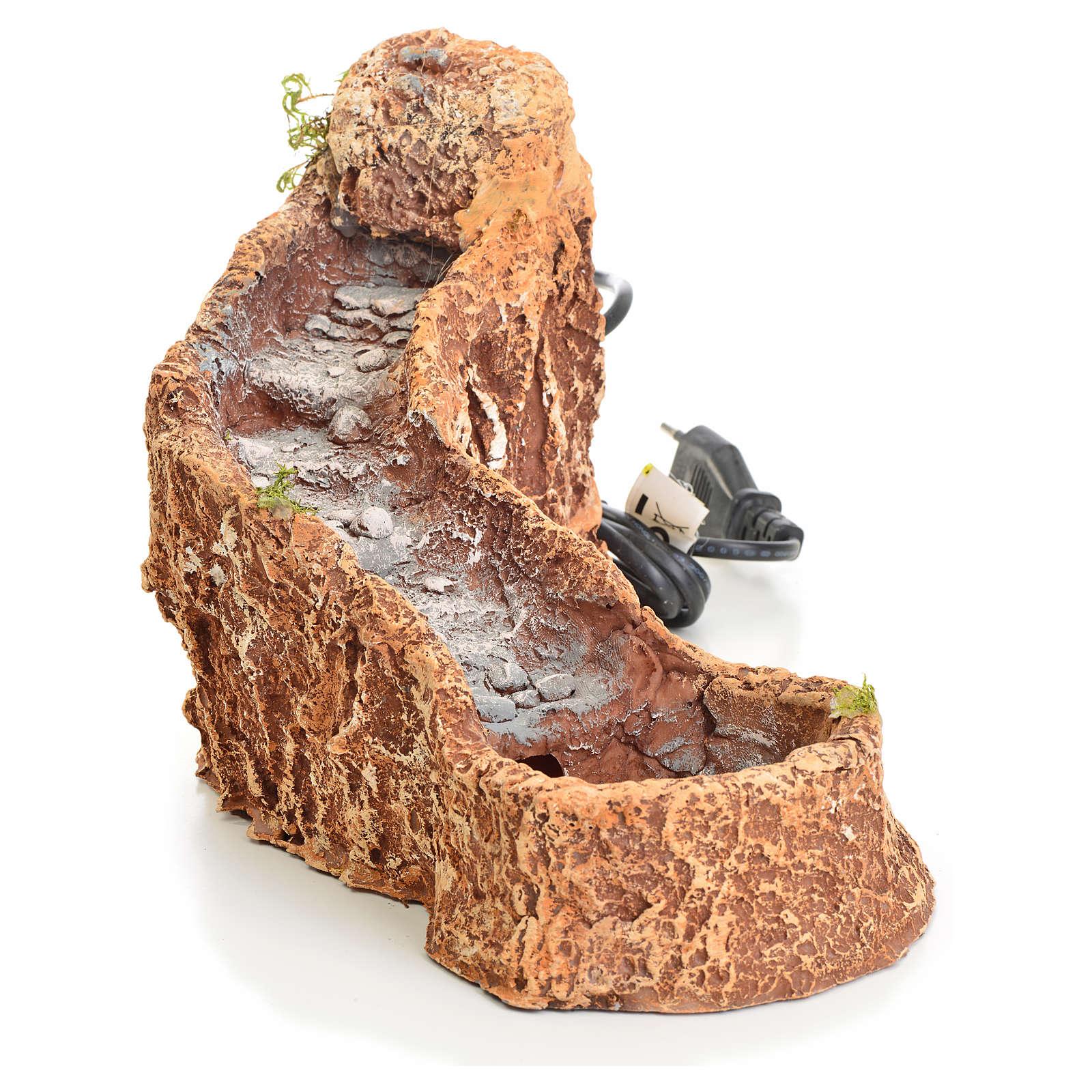 Riochuelo curvo resina para pesebre 18x15x27cm 4