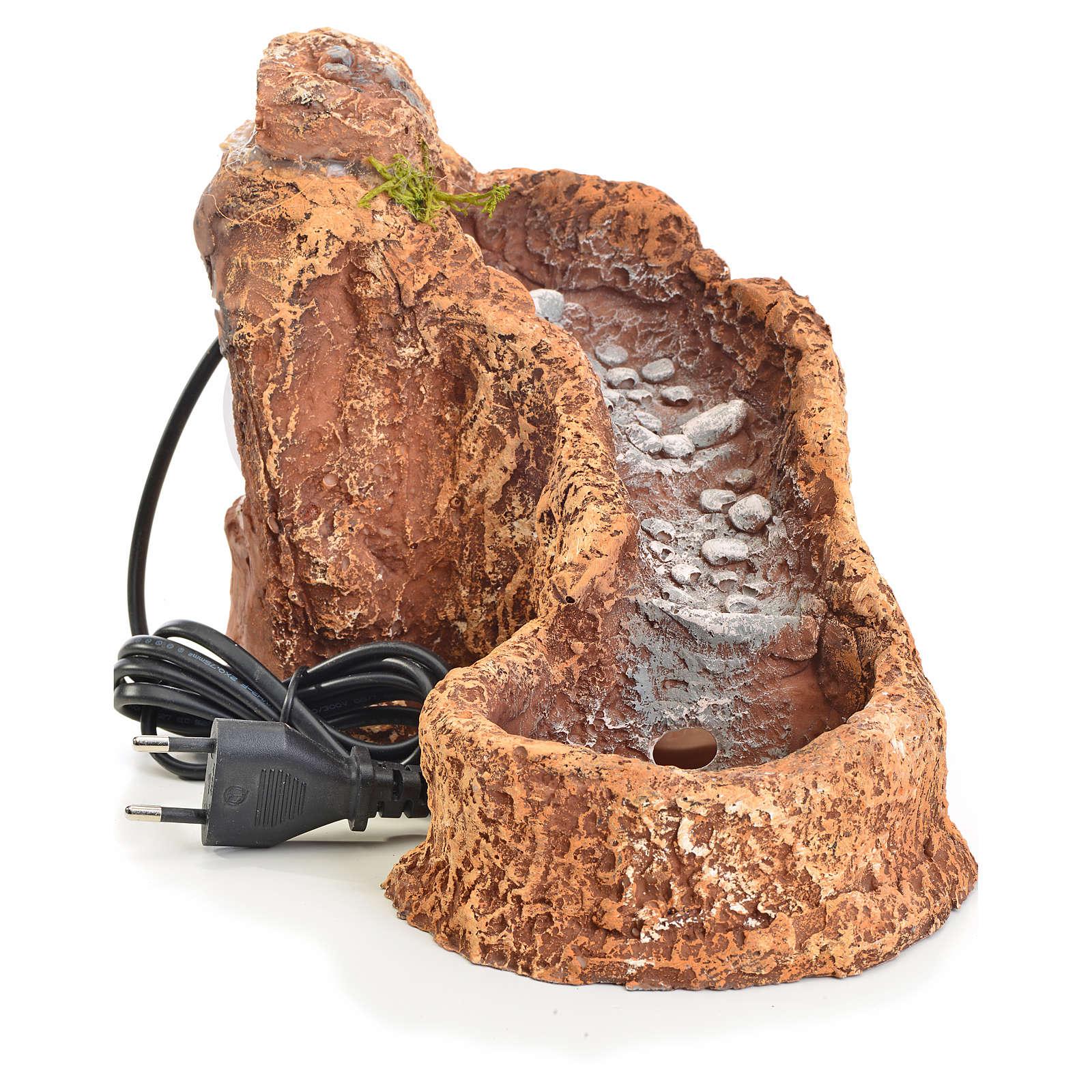 Riochuelo resina en curva para pesebre 18x15x27cm 4