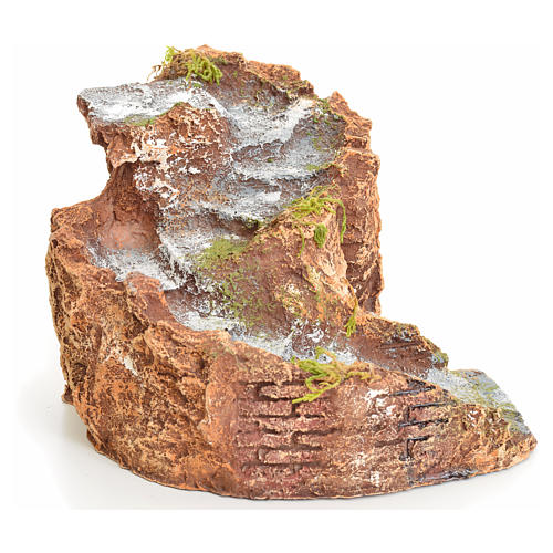 Escalera en resina para pesebre 11x20x18 cm 2
