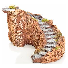 Escalier en miniature en résine crèche 13x27x14 s1